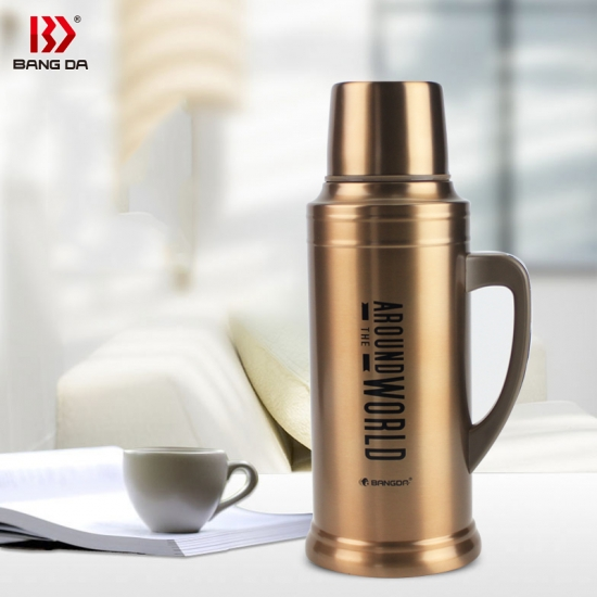 Stainless steel vacuum travel flask